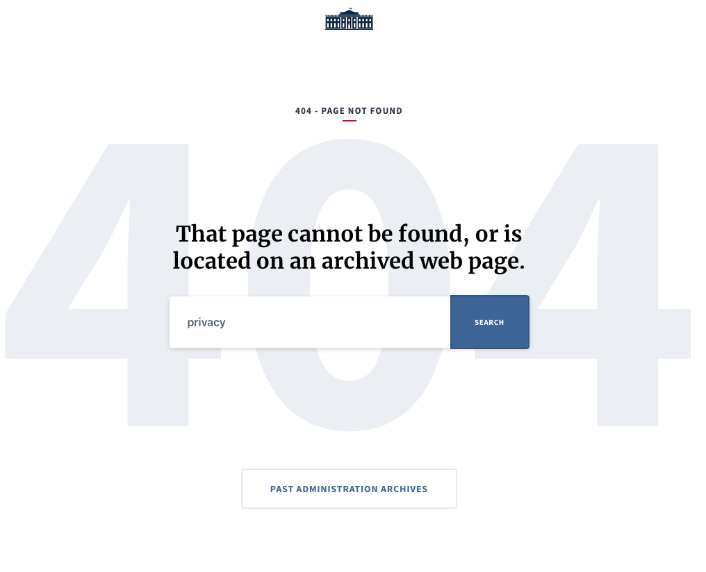 How perfect is it that Trump's Twitter profile goes to a 404 page